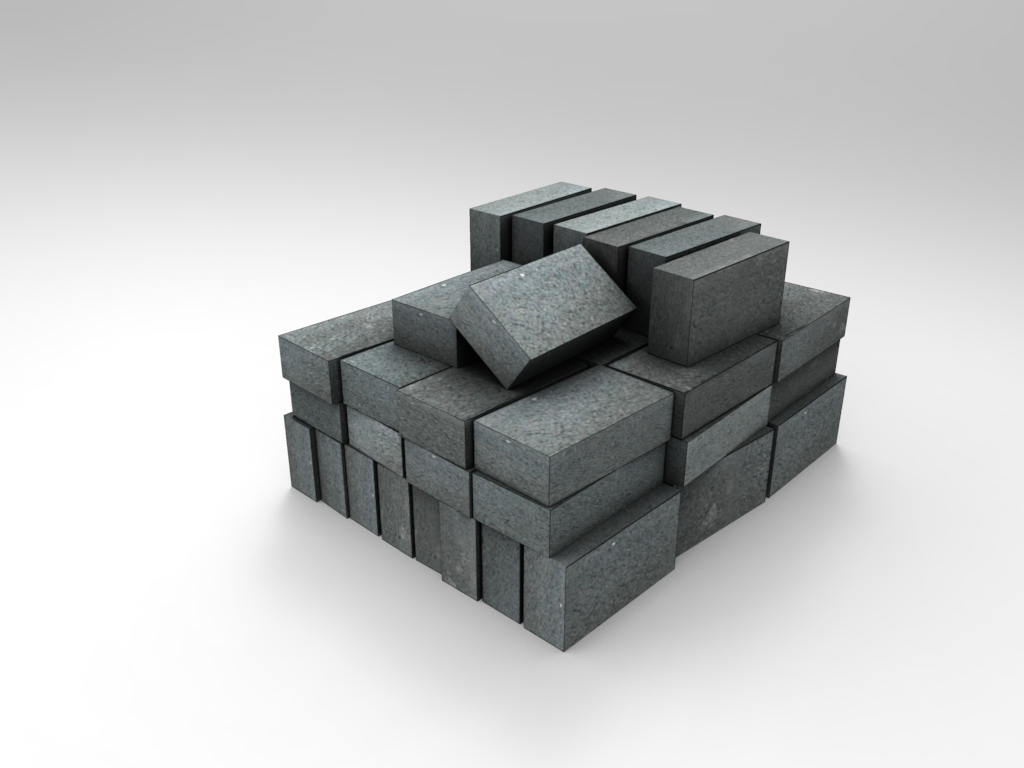 Concrete Blocks Pile 01